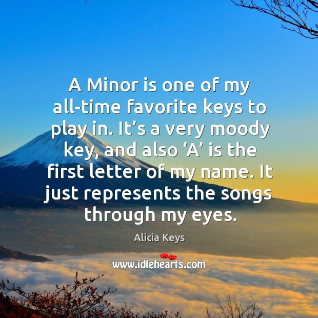 A minor is one of my all-time favorite keys to play in. Image