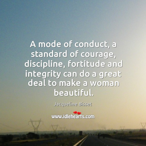 A mode of conduct, a standard of courage, discipline Image