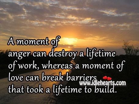 Love can break barriers Advice Quotes Image