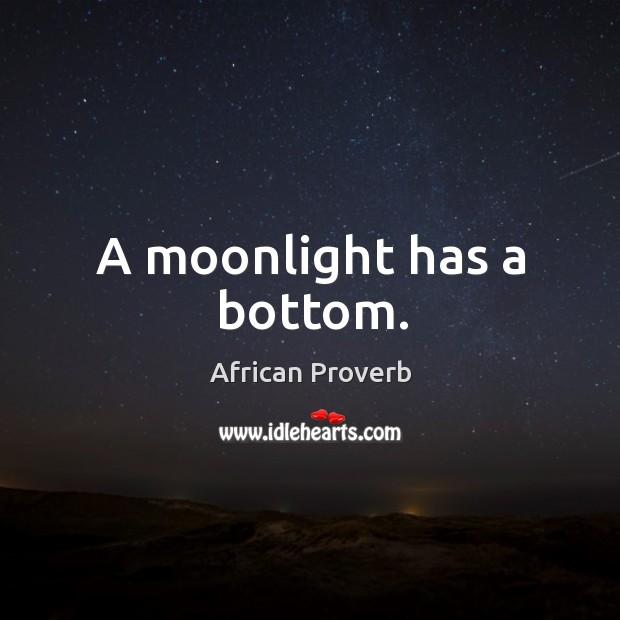 Image, A moonlight has a bottom.
