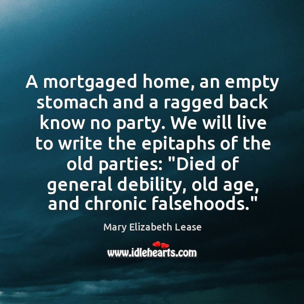 A mortgaged home, an empty stomach and a ragged back know no Image