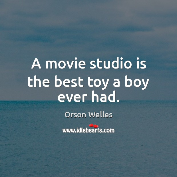 A movie studio is the best toy a boy ever had. Image