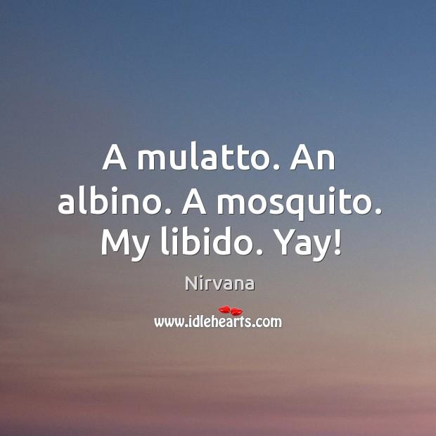 A mulatto. An albino. A mosquito. My libido. Yay! Nirvana Picture Quote