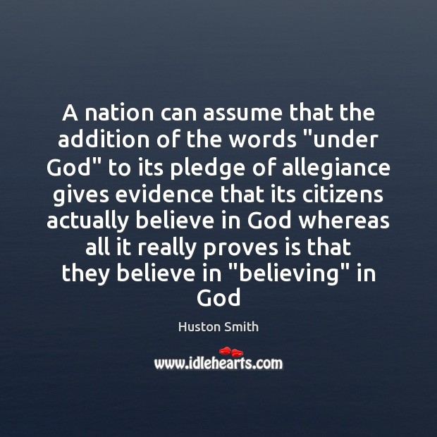 "Image, A nation can assume that the addition of the words ""under God"""