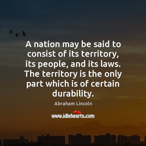 Image, A nation may be said to consist of its territory, its people,