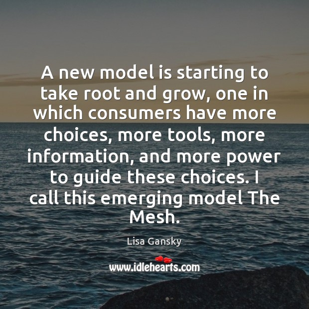 A new model is starting to take root and grow, one in Image