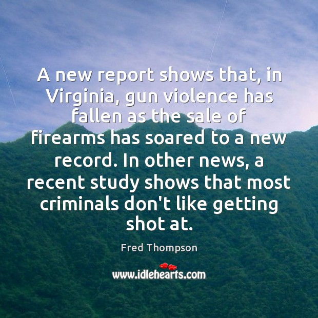 Image, A new report shows that, in Virginia, gun violence has fallen as