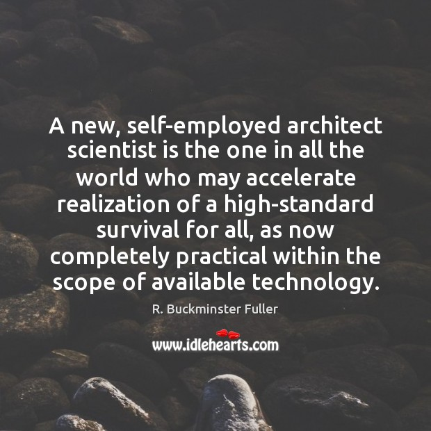 Image, A new, self-employed architect scientist is the one in all the world