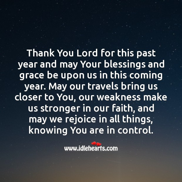A New Year's Prayer! Thank You God Quotes Image
