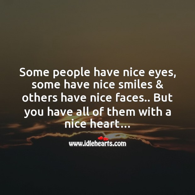 A nice heart Love Messages Image