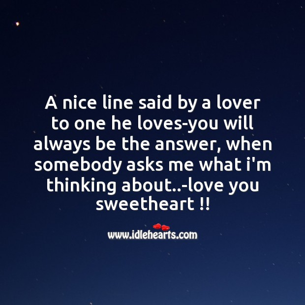 Image, A nice line said by a lover