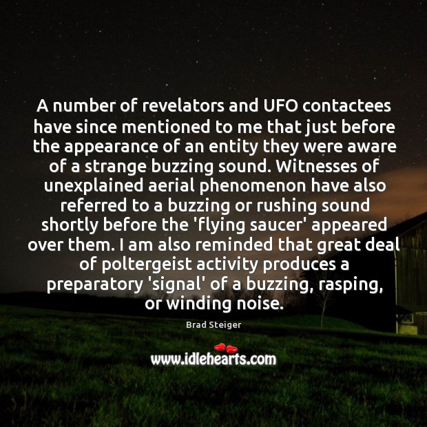 Image, A number of revelators and UFO contactees have since mentioned to me