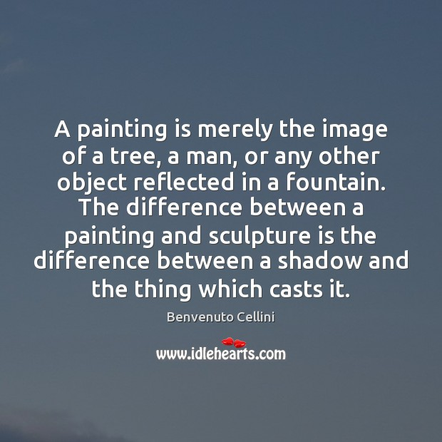 Image, A painting is merely the image of a tree, a man, or