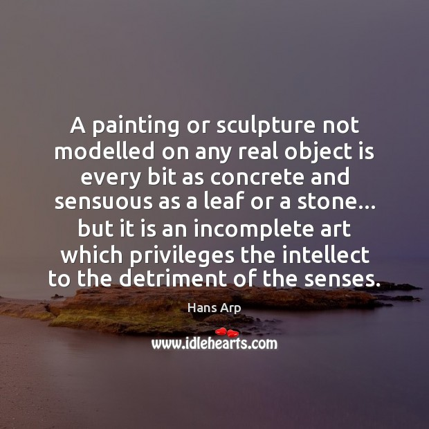 A painting or sculpture not modelled on any real object is every Image