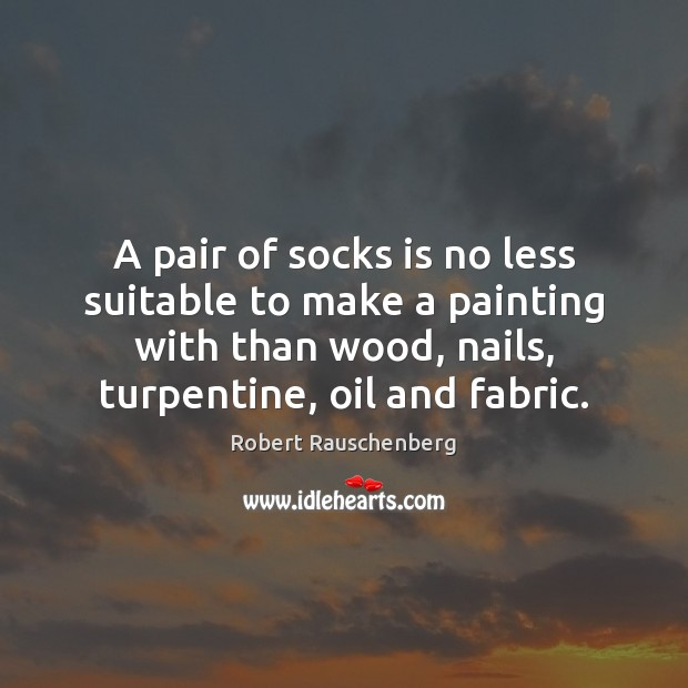 A pair of socks is no less suitable to make a painting Image