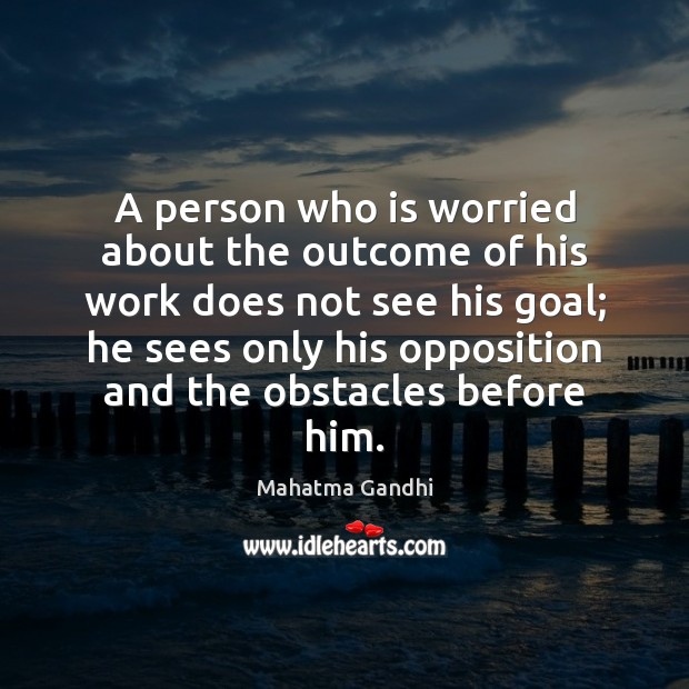 Image, A person who is worried about the outcome of his work does