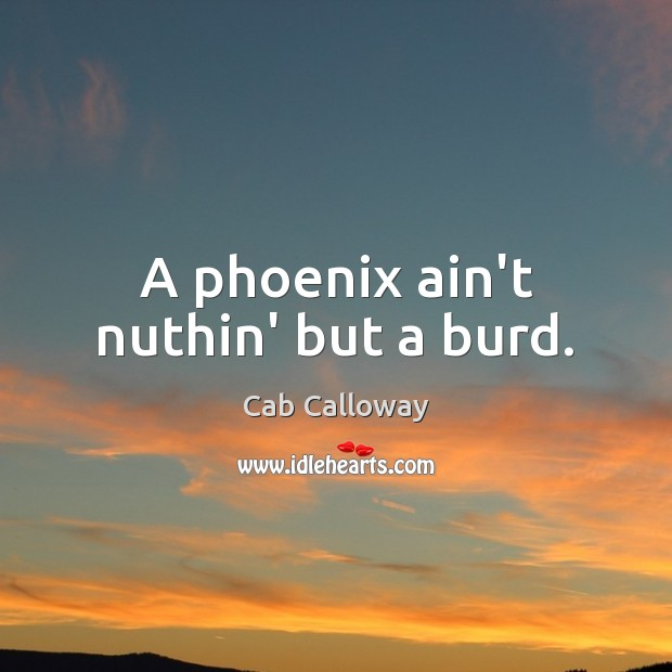 Image, A phoenix ain't nuthin' but a burd.