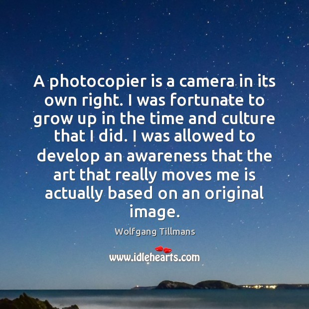 A photocopier is a camera in its own right. I was fortunate Image