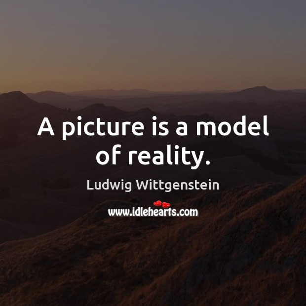 Image, A picture is a model of reality.
