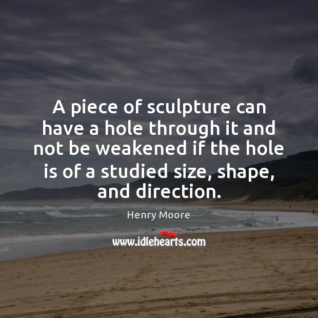 A piece of sculpture can have a hole through it and not Image