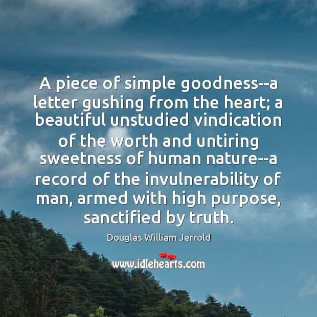 A piece of simple goodness–a letter gushing from the heart; a beautiful Image