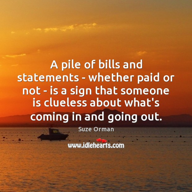 A pile of bills and statements – whether paid or not – Image