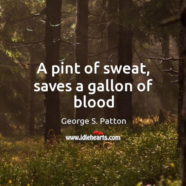 Image, A pint of sweat, saves a gallon of blood
