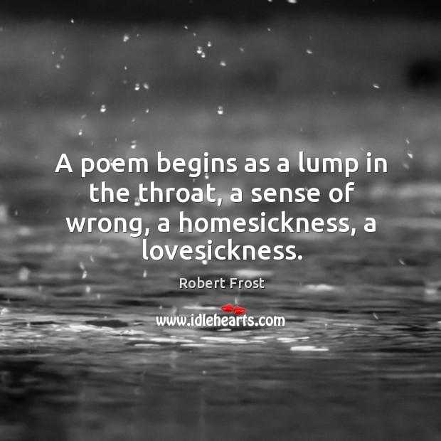 robert frost poetry begins in