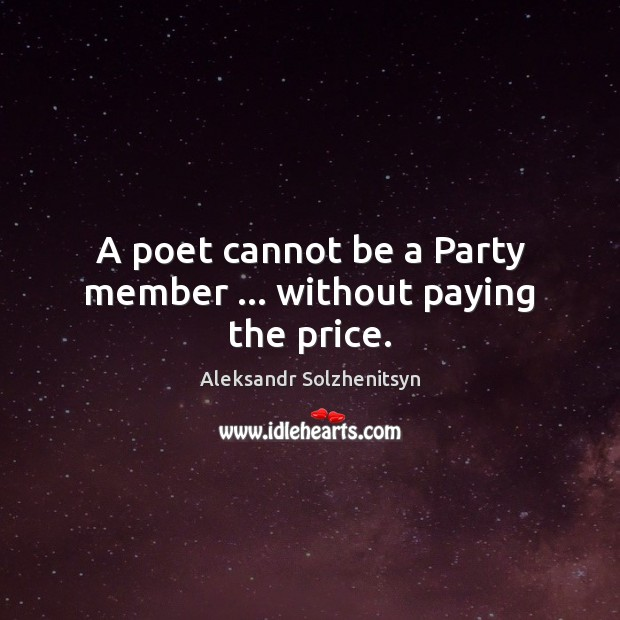 Image, A poet cannot be a Party member … without paying the price.