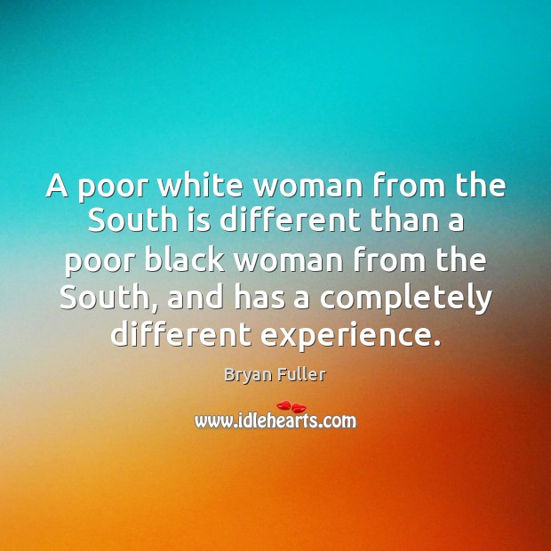 Image, A poor white woman from the South is different than a poor