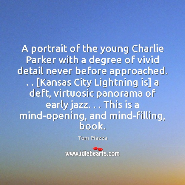 Image, A portrait of the young Charlie Parker with a degree of vivid