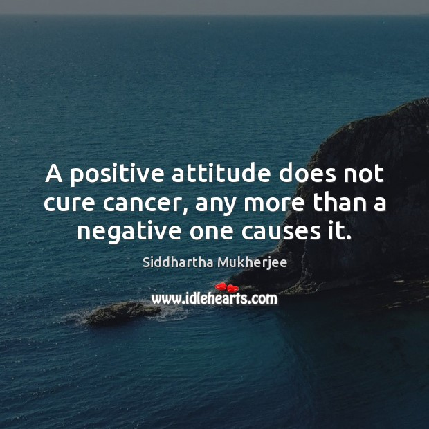 A positive attitude does not cure cancer, any more than a negative one causes it. Positive Attitude Quotes Image