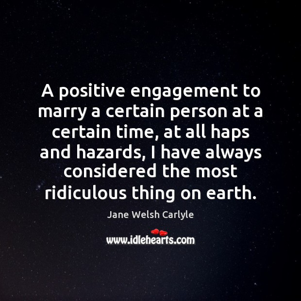 A positive engagement to marry a certain person at a certain time, Image
