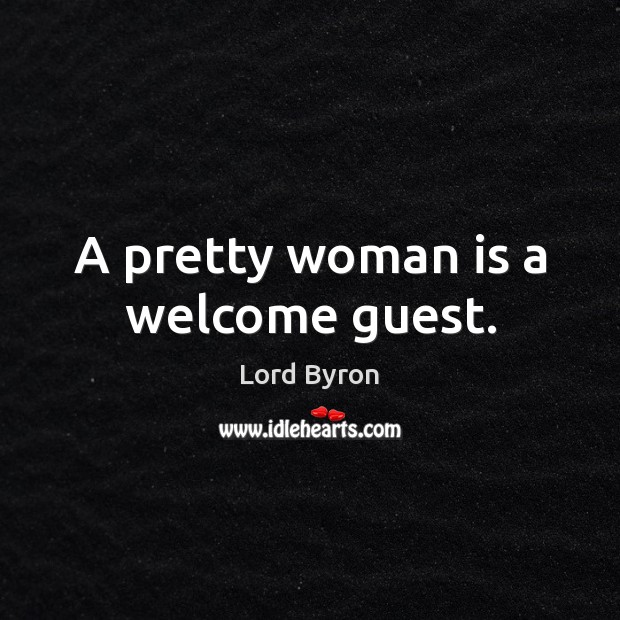 Image, A pretty woman is a welcome guest.