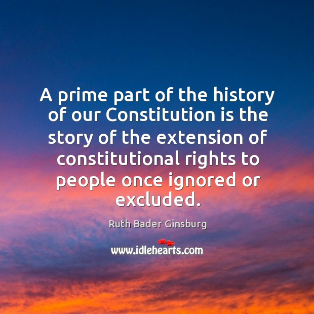 A prime part of the history of our Constitution is the story Image