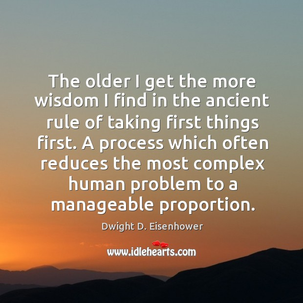 A process which often reduces the most complex human problem to a manageable proportion. Image