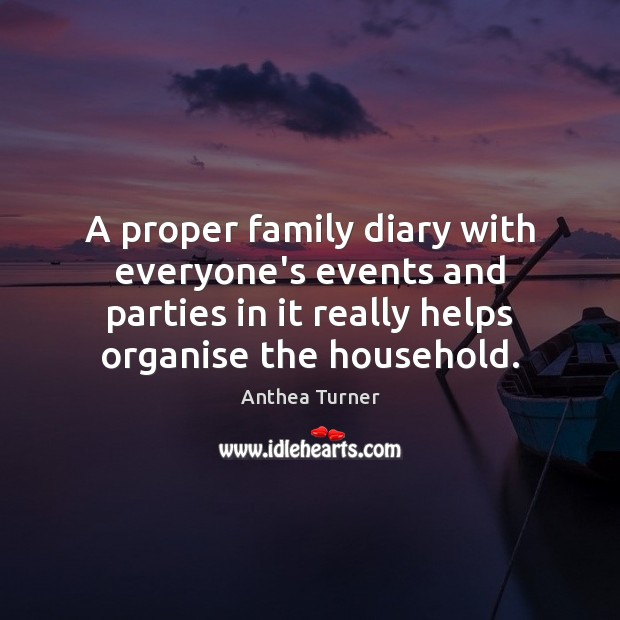 Image, A proper family diary with everyone's events and parties in it really
