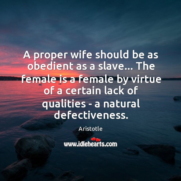 Image, A proper wife should be as obedient as a slave… The female