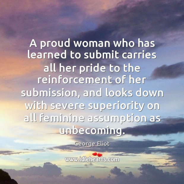 Image, A proud woman who has learned to submit carries all her pride