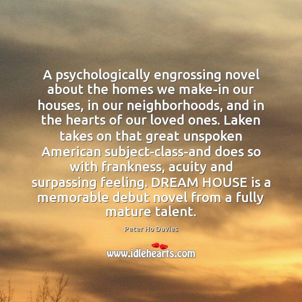 A psychologically engrossing novel about the homes we make-in our houses, in Image