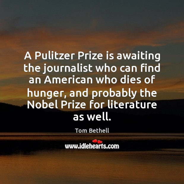 A Pulitzer Prize is awaiting the journalist who can find an American Image
