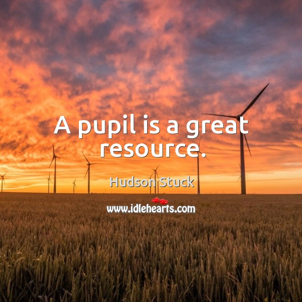 A pupil is a great resource. Image