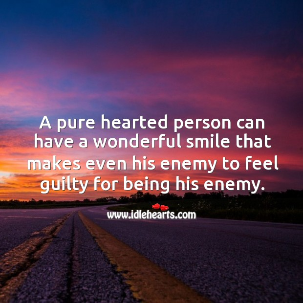 Image, A pure hearted person has a wonderful smile.