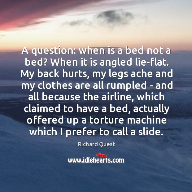 Image, A question: when is a bed not a bed? When it is
