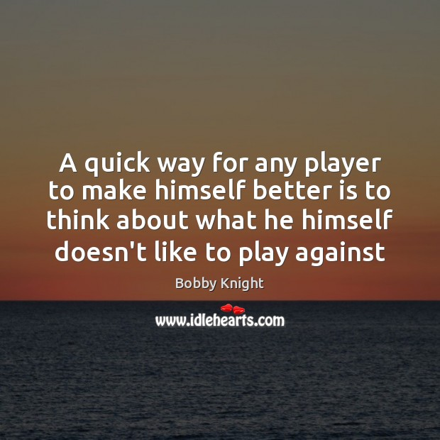 Image, A quick way for any player to make himself better is to