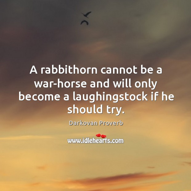 Image, A rabbithorn cannot be a war-horse