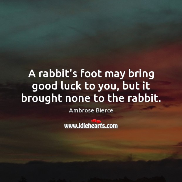 Image, A rabbit's foot may bring good luck to you, but it brought none to the rabbit.