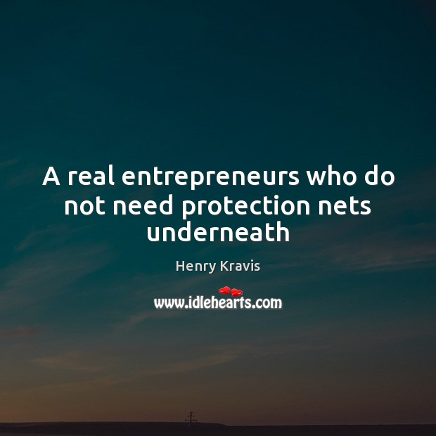A real entrepreneurs who do not need protection nets underneath Image
