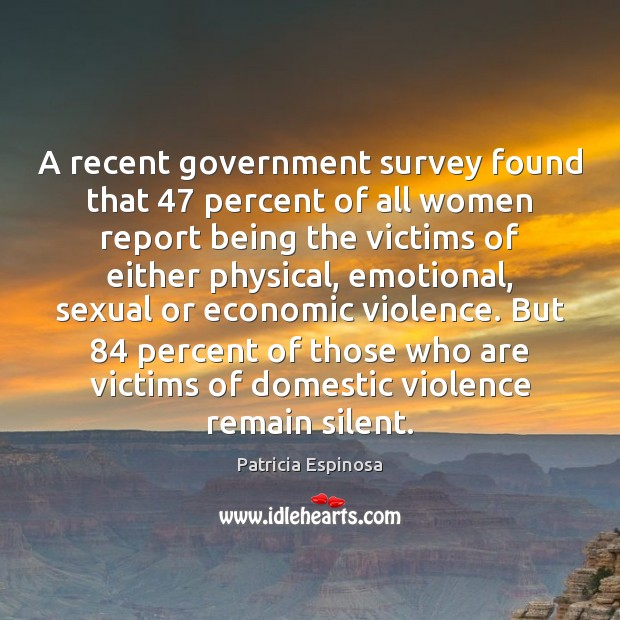A recent government survey found that 47 percent of all women report being Silent Quotes Image