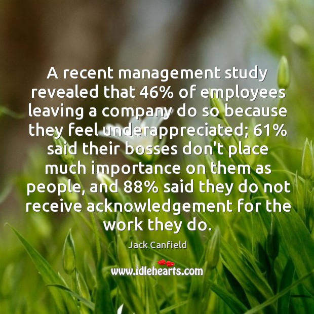 Image, A recent management study revealed that 46% of employees leaving a company do